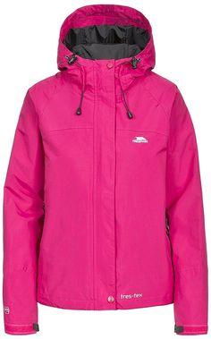 Trespass Women Miyake Jacket, Cerise, Large for sale online Raincoats For Women, Jackets For Women, Nike Jacket, Rain Jacket, Casual Jackets, Women's Jackets, Hooded Jacket, Windbreaker, Jackets Fashion