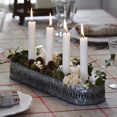 lovely idea for candle display