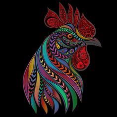 Rooster on Behance
