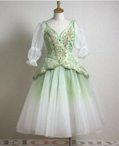 Pale green costume
