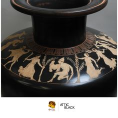 ATTIC BLACK features iconic, handmade pottery showcasing the Grecian heritage & culture. Handmade Pottery, Black, Black People, Handmade Ceramic