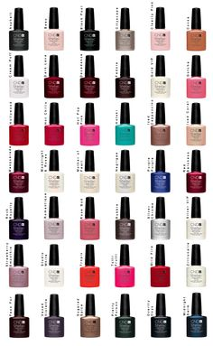 Shellac Color Chart - I just did my first Shellac application yesterday, I love 'em already.