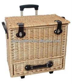 luxury wicker picnic hamper u0026 basket with drawer for 4 person buy picnic basket product on alibabacom