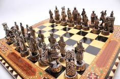 Taracea Wooden Chess Set handmade chess traditional от ElGranero