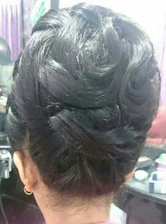 chignon meches enclacee