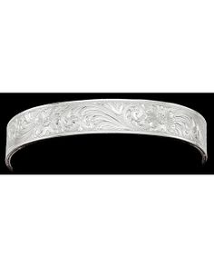 Silver Fully Engraved Cuff Bracelet $45 Montana SS - stunning design!