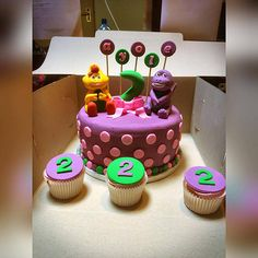 Sugar Mami offers affordable cakes & bakes for any ocassion! Barney Cake, No Bake Cake, Bakery, Sugar, Desserts, Food, Tailgate Desserts, Deserts, Bakery Shops