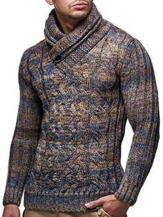 LEIF NELSON Herren Strickpullover Grobstrick LN6001; Grš§e XL, Braun Suit Fashion, Mens Fashion, Fashion Outfits, Sweater Jacket, Men Sweater, Bodybuilding Clothing, Casual Wear For Men, Mens Clothing Styles, Knitwear