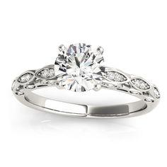 Transcendent Brilliance 14k White, Rose Or Yellow Gold 1 1/10ct TDW White Diamond Antique Style Engagement Ring (F-G, VS1-VS2) (Rose - Size 8.5), Women's