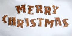 Typo Gingerbread - Merry Christmas by Iwona Przybyla, via Behance