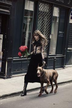 """Duchess Dior: """"Novel Romance"""" Lara Stone & Freja Beha Erichsen for W Magazine November 2015"""