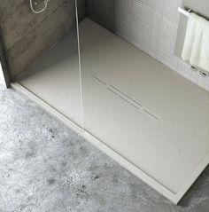 Piatto doccia bordato su musura colorato Silex Privilege effetto ardesia, pietra, cemento - Fiora - EDILVETTA Verona