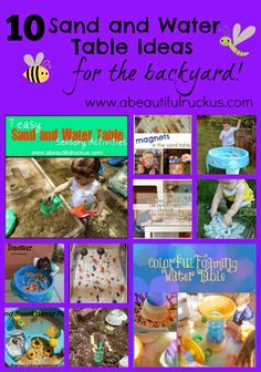 A Beautiful Ruckus: 10 Sand and Water Table Ideas for the Backyard + $1500 Cash Giveaway!