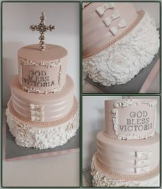 First Communion Cake Torta Prima Comunione First Holy Communion Cake, Holy Communion Dresses, Communion Gifts, Confirmation Cakes, Baptism Cakes, Comunion Cakes, Glamour Cake, Champagne Birthday, Religious Cakes
