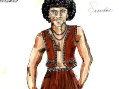 Original costume design for Snow by Bobbie Mannix and Mary Ellen Winston