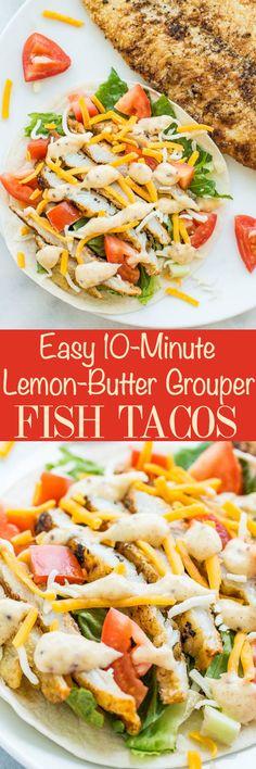 Easy 10-Minute Lemon-Butter Grouper Fish Tacos