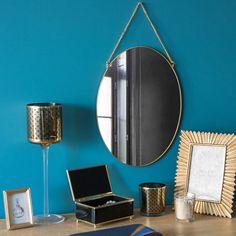 Spiegel aus goldfarbenem Metall H 33 ...