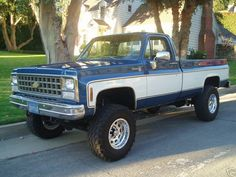 Chevy Truck, we had one just like this one! I LOVED that truck, should have kept it! Chevy K10, Chevy Pickup Trucks, Classic Chevy Trucks, Gm Trucks, Chevy Pickups, Chevrolet Trucks, Lifted Trucks, Cool Trucks, Gmc Suv