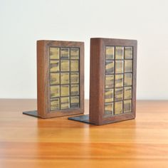 marshall studios martz tile bookends by thecreekhouse on Etsy