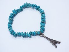 Hey, I found this really awesome Etsy listing at https://www.etsy.com/listing/466383115/turquoise-eiffel-tower-bracelet-pu046