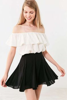 Kimchi Blue Fiona Flirty Mini Circle Skirt - Urban Outfitters