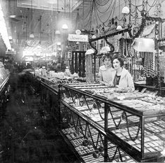 View inside the S.H. Kress Store on 2nd Street in Alexandria, Louisiana, early 1900s