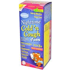 Hyland's, Nighttime Cold 'n Cough 4 Kids, Multi Symptom, Age 2 , 4 fl oz (118 ml)  сироп от простуды