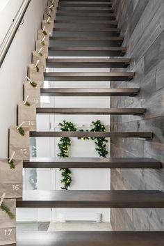 Simple yet beautiful advent calendar - VALÉRIE DE L'ÉTOILE INTERIOR DESIGNER Designer, Stairs, Simple, Beautiful, Home Decor, Photography, Stairway, Decoration Home, Room Decor