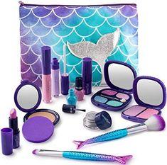 Make it Up Mermaid Collection Realistic Pretend Makeup Set (NOT Real Makeup) Little Girl Makeup Kit, Makeup Kit For Kids, Little Girl Toys, Baby Girl Toys, Kids Makeup, Toys For Girls, Gifts For Girls, Makeup Toys, Barbie Makeup