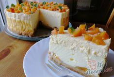 Vanilkový cheesecake s broskvemi Vanilla Cake, Cheesecake, Sweets, Eat, Food, Cakes, Fitness, Deserts, Author