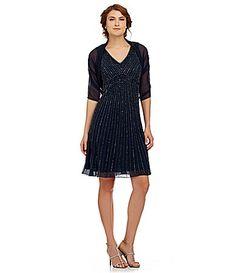 Jkara Beaded VNeck Dress with Shawl #Dillards For Mom