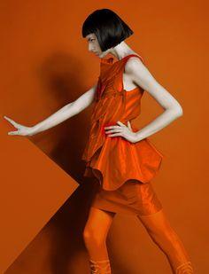orange fashion monochrome
