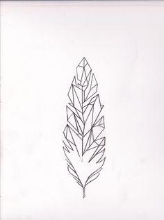 tattoo geometric feather by Ann Miu Lumen Janssens