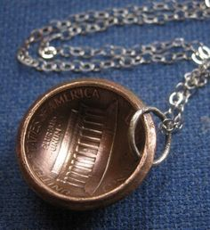domed penny pendant
