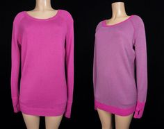 LULULEMON Chai Time Pullover L Large Paris Pink Reversible Knit Sweater #Lululemon #ShirtsTops