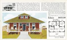 The Aladdin Edison was a very modest, simple house.