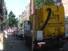 yellow construction truck
