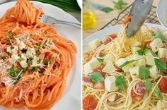 16 Deliciosas recetas de espagueti que necesitas hacer si amas la pasta Pasta Al Pesto, Pasta Soup, Vegetarian Recipes, Rice, Yummy Food, Cooking, Ethnic Recipes, Pasta Saludable, Tattoos
