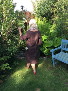 My first Merchant & Mills Camber Set dress made in brown herringbone linen.  Really easy to make and so comfy