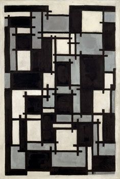 De Stijl Movement: Theo Van Doesburg/ Composition X/ Mouvement hollandais Davos, Piet Mondrian, Johannes Itten, Geometric Artists, Theo Van Doesburg, Georges Pompidou, Action Painting, Op Art, Bauhaus