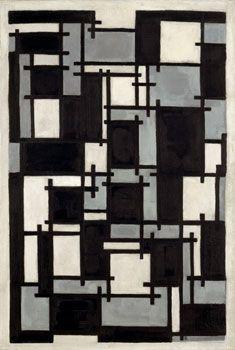 De Stijl Movement: Theo Van Doesburg/ Composition X/ 1918/ Mouvement hollandais