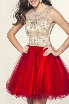 AHC028 New Arrival Red Charming Beading Short Homecoming Dresses 2017