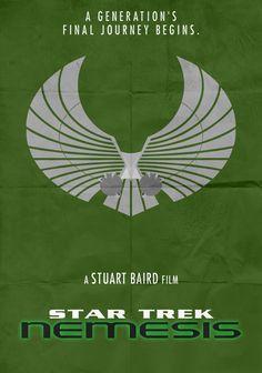 Star Trek: Nemesis - Minimalist Poster by on DeviantArt Stars, Alternative Movie Posters, Sci Fi, About Time Movie, Poster Art, Minimalist Poster, Star Trek, Star Trek Posters, Love Film