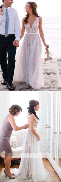 V Neck Open Back Strap Tulle Wedding Dresses Best Bride Gown - 2019 Wedding Dresses - brautkleid Wedding Dresses Near Me, Inexpensive Wedding Dresses, Lace Beach Wedding Dress, Tulle Wedding, White Wedding Dresses, Cheap Wedding Dress, Wedding Party Dresses, Designer Wedding Dresses, Bridal Dresses