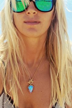 BIOLUMINESCENCE Arrowhead Necklace by Long Lost Jewelry