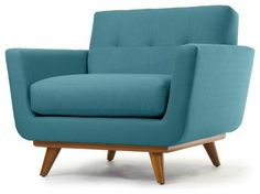 Nixon Chair, Lucky Turquoise - contemporary - armchairs - Thrive Home Furnishings