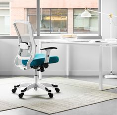 Get the support you need with the ergonomic adjustments of the 317W-W1C1F2W-7. #ergonomic #officefurniture