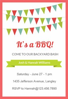 bbq cookout free printable bbq party invitation template