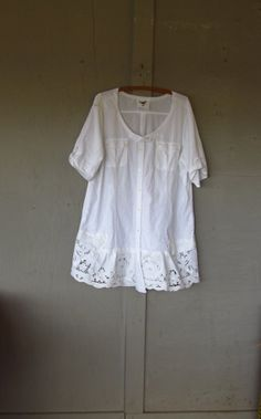 French Shabby Bohemian tunic/upcycled by lillienoradrygoods, $87.50