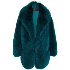Cushnie et Ochs Fox Fur Coat (622.665 RUB) ❤ liked on Polyvore featuring outerwear, coats, jackets, coats & jackets, clothes - outerwear, long sleeve coat, blue coat, cushnie et ochs, fitted coat and fox fur coat
